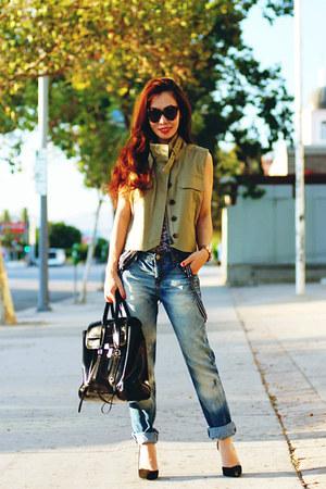 Zara Boys jeans - 31 Phlillip Lim bag - JCrew vest