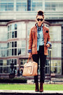 Leopard-print-zara-boots-leather-vintage-blazer