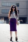 Butterfly-zara-top-magenta-vintage-skirt-aldo-heels