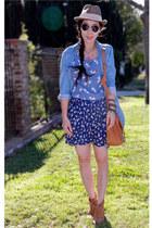 Topshop boots - denim Zara shirt - asos bag - H&M top - Zara skirt - buy at targ