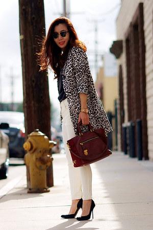 H&M coat - Prada bag - Gucci heels
