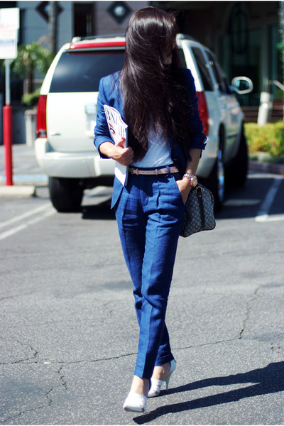 Zara pants - Zara blazer - Louis Vuitton bag - Alexander Wang sandals