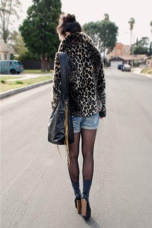Jessica Simpson heels - leopard Urban Outfitters coat - CCSKYE bag