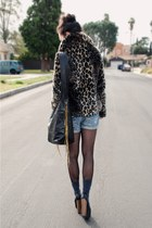 Jessica Simpson heels - leopard Urban Outfitters coat - CCSKYE bag