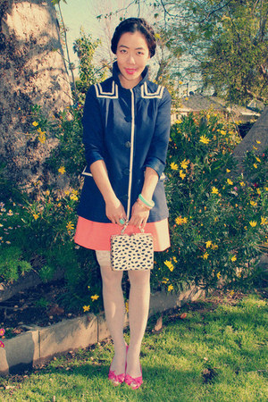 H&amp;M jacket - thrifted bag - H&amp;M skirt - pink Celine heels - H&amp;M bracelet