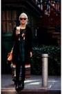 Black-acne-boots-dark-green-topshop-dress-black-persunmall-coat