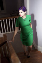 black Betsey Johnson Pumps pumps - green vintage dress Laiglon 1950s Dress dress
