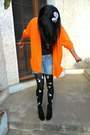 Orange-flino-sweater-black-lily-shoes-boots-black-miu-miu-diy-tights