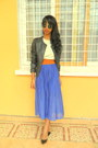 Blue-skirt-black-berskha-leather-jacket-h-m-round-sunglasses