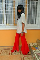 red pants - Go Jane Litas Jeffrey Campbell like heels - Rolex watch