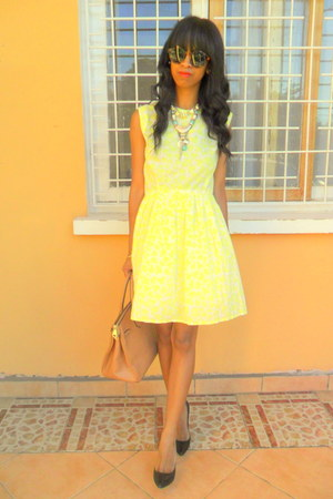 light yellow Baby Doll dress - black Christian Louboutin pumps