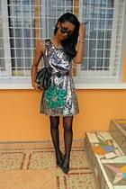 glittered dress