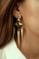 Gold Jagged Earrings