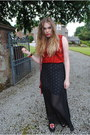 Red-primark-top-ruby-red-new-look-bag-black-henry-holland-skirt