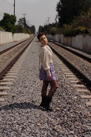 Wet Seal skirt - Macys dress - Betsey Johnsons tights - vintage shoes