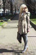 Zara coat - Louis Vuitton accessories - Krizia sunglasses