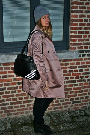 Zara coat - adidas bag