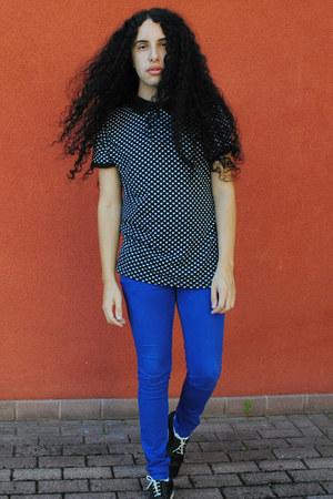 black you&me shoes - black Primark t-shirt