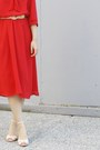 Red-vintage-dress-nude-jeffrey-campbell-sandals
