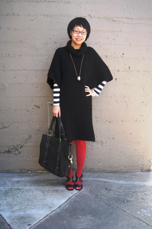 Zara dress - Ralph Lauren purse - Aldo stockings - DKNY shoes