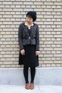 Black-zara-cardigan-target-skirt-h-m-hat-etienne-aigner-belt-brown-miz-m