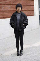 black cape SAXONY jacket - black chictopia shop boots