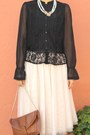 Black-wedge-coach-shoes-black-victorian-style-h-m-shirt-nude-maxi-skirt-h-m-