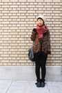 Black-shearling-zara-boots-maroon-anthropologie-scarf-brown-leopard-print-za