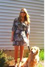 Gray-vintage-dress-brown-steve-madden-shoes