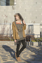 H&M jeans - Frank Wright boots - H&M jacket - codes combine t-shirt