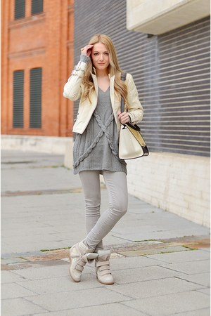 Zara jacket - citizens jeans - Siren London sweater - Celine bag