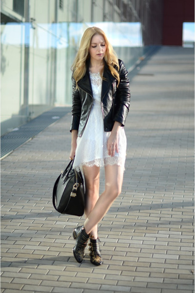 free people dress - Chloe boots - Mango jacket - Givenchy purse