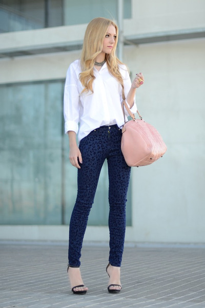 Carolina Herrera purse - Mango blouse - Zara pants