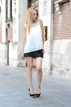 white Queens Wardrobe blouse - black Zara pumps - black Maje skirt