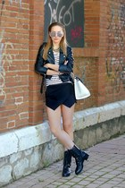 Love shorts - Valentino boots - River Island jacket - Celine bag