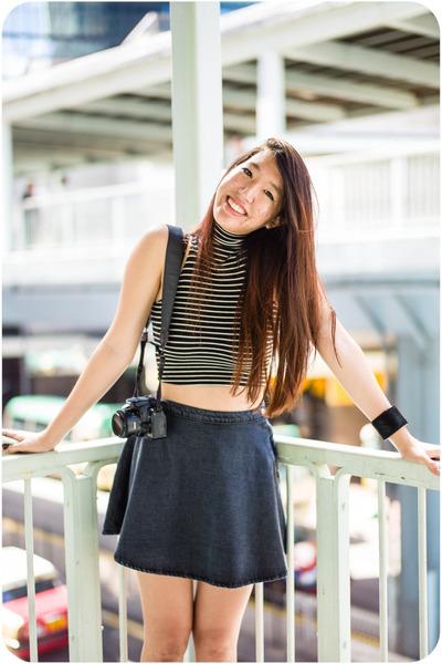 circle American Apparel skirt - American Apparel shirt