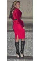 ruby red blazer