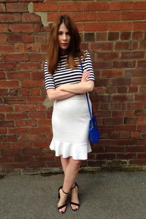 H&M shirt - ivory H&M skirt - Zara heels