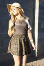 Brown-f21-shoes-brown-victorias-secret-skirt