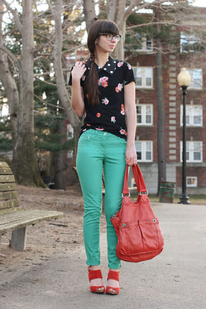aquamarine H&M pants - carrot orange Marc by Marc Jacobs purse
