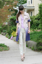 ivory Zara jeans - deep purple YongS jacket - light purple Jcrew t-shirt