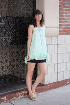 aquamarine Charlotte Russe top - gold LeBunny Bleu shoes
