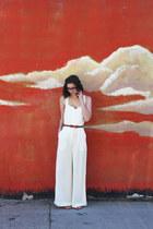 ivory H&M jumper - brown Target belt