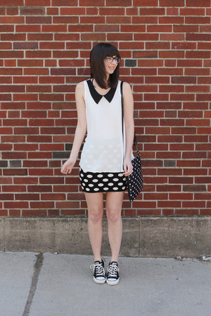 black Target purse - black Forever21 skirt - white modcloth blouse