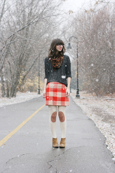 red Jcrew Factory skirt - camel Boutique 9 boots