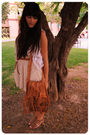 White-zara-vest-beige-zara-t-shirt-beige-zara-skirt-brown-oysho-belt-bro