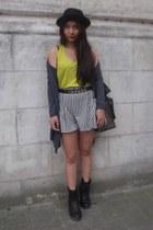 H&M t-shirt - sac danvers boots - thailand shorts - H&M cardigan