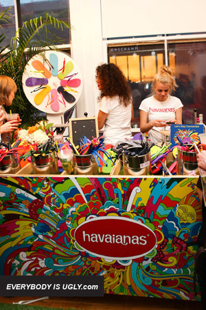 colorful Havaianas sandals