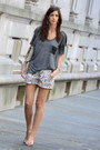 Neutral-animal-print-h-m-shorts-silver-studded-affair-rebecca-minkoff-bag