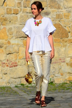 Jamin Puech bag - Marni sandals - white Zara blouse - Anthropologie necklace